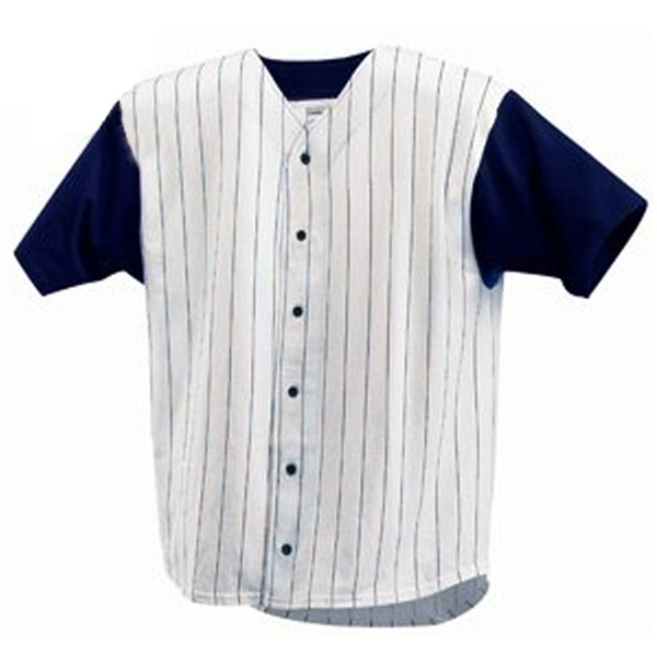 Pinstripe baseball jersey blank apparel by zome for Blank baseball jersey t shirts